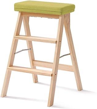 Escalera plegable taburete banqueta Taburete plegable de paso for adultos/niños, estante de madera resistente de 3 escalones for subir escaleras Estante for la biblioteca de la oficina de la tienda: Amazon.es: Bricolaje