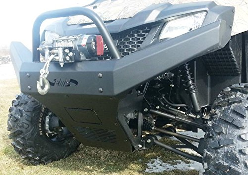 Front Bumper Brush Guard with Winch Mount for Honda Pioneer by EMP 12493