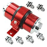yj fuel filter - Billet Aluminum Inline Fuel/Gas/Petrol Filter+Bracket Cleanable 30 Micron for AN6 AN8 AN10 Red