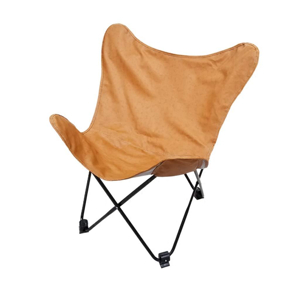 Tragbarer Klappstuhl-einfacher lederner Schmetterlings-Stuhl fauler Sofa-Mond-Klubsessel-Nichtleder kann 110kg tragen