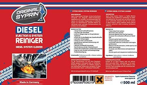 ... limpiador de sistemas diésel - Limpiador de toberas de inyección - Limpieza de inyectores - Limpieza de motores diésel, 500 ml.: Amazon.es: Coche y moto