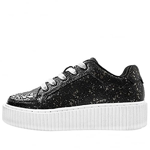 Et u Paint Féminin Casbah Chrome Shoes T Splatter k Creeper Noir wtqxPA