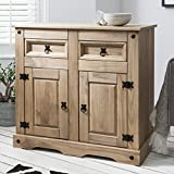 Corona Mexican Pine Large Sideboard | 2 Drawers & 2 Doors | Rustic Design