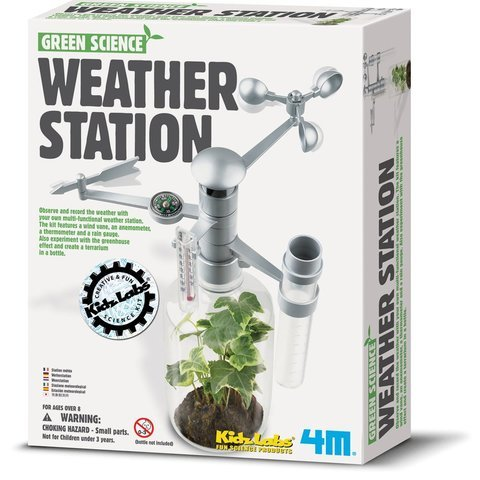 First Weather Kit - WE-R-KIDS Game / Play 4M Weather Station Kit. Science, Climate, Tracking, Toy, Greenhouse, Conducting, Learning Toy / Child / Kid
