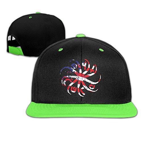 wyuzhen-kids-the-cure-logo-hip-hop-snapback-hat-caps-kellygreen
