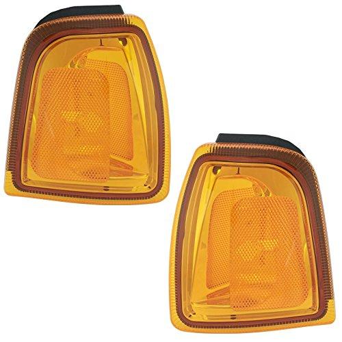 Corner Parking Side Marker Turn Signal Lights Lamps Pair Set for 01-05 Ranger