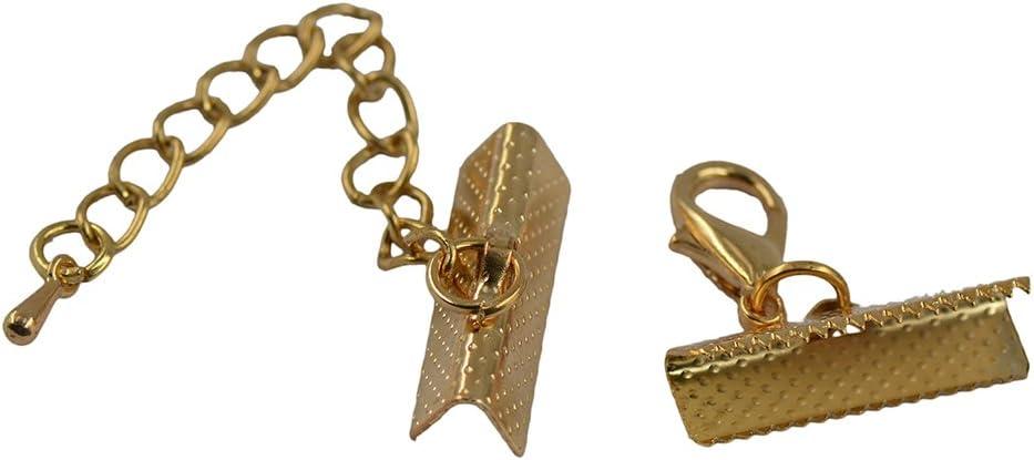 Couleur bronze chaîne extender avec fermoir homard