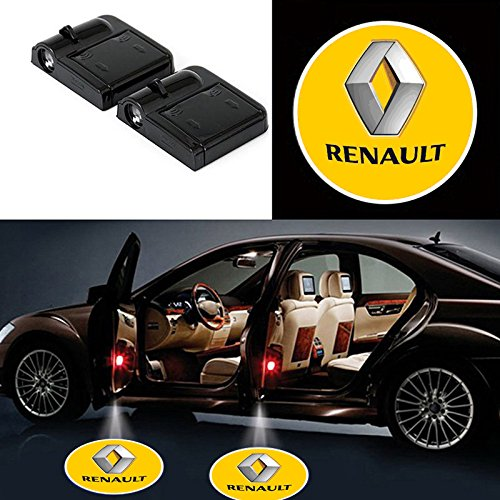 Bearfire 2 Pcs Wireless Car Door Led Welcome Laser Projector Logo Light Ghost Shadow Light Lamp Logos (renault)