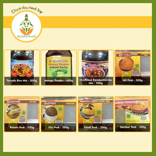 Indian Instant Food Combo Pack of 11 Items from Grand Sweets & Snacks - Choice of Rice Mixes & Podis