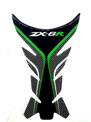 Green Motorcycle Protector Gas Fuel Tank Pad Decal Epoxy Sticker for Kawasaki Ninja ZX6R All ()