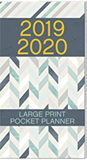 Amazon.com : Large Print Monthly Pocket Planner 2019-2020 ...