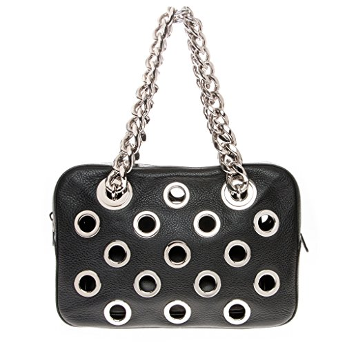 Prada-Womens-Chain-Top-Handle-Grained-Large-Grommet-Detailed-Bag