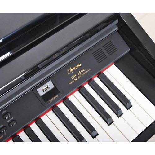 e60de4cccb6 Amazon.com: Artesia DP-150e Deluxe Home Digital Piano (Dark Rosewood):  Musical Instruments
