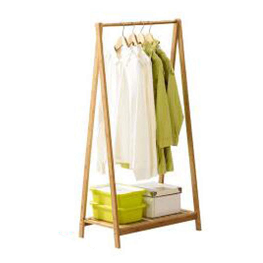 Beige 3460120cm Standing Coat Racks Coat Rack Hanger Floor Solid Wood Coat Rack Living Room Simple Bedroom Hanger Rack (color   Beige, Size   34  60  120cm)