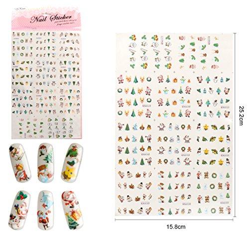Christmas Design Nail Art Sticker DIY Fashion Gift (006)
