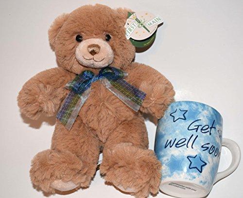 Get Well Teddy Bear & Mug Bundle For Women,Men-Get Well Bear,Get Well Gift Set, Get Well Gifts