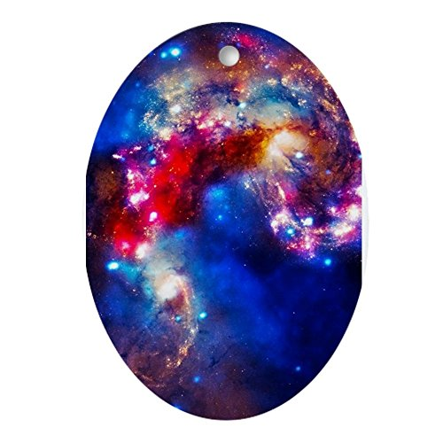 CafePress Colorful Cosmos Ornament (Oval) Oval Holiday Christmas Ornament