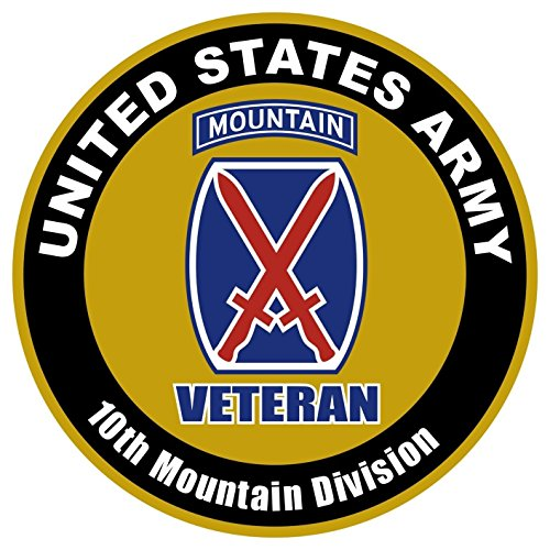 1 Set Reasonable Unique United States Army Veteran 10th Mountain Division US Sticker Sign Windows Outdoor Car Decal Decor Wall Hoverboard Macbook Laptop Cars Vinyl Mac Apple Kids Stickers Size 4