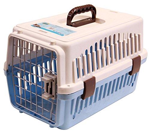 BPS (R) Transportín Rígido para Perro o Gato, Animales Domésticos, Tamaño: 56 x 35 x 35 cm. (Azul)