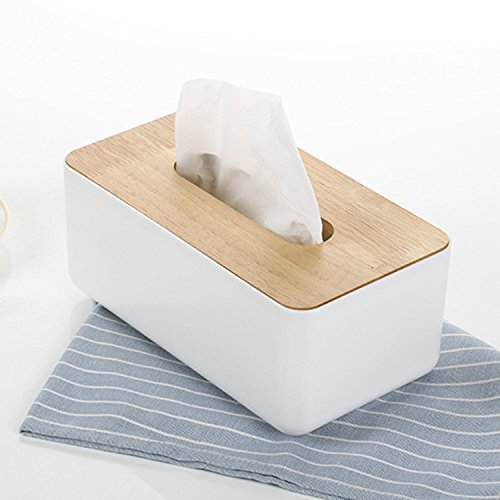 LWJgsa Carton Pumping Household Living Room Creative Napkin Box Car Simple Wooden Cover A Style (White Boxcar)