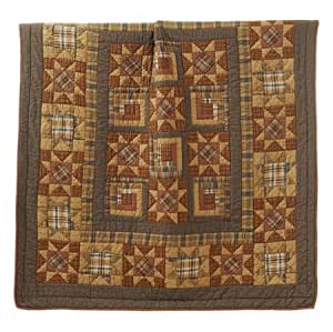 Burlington Throw Rustic Country Patchwork Star Quilt