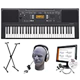 Yamaha PSR-E343 Premium Portable Keyboard Package with Headphones, Power Supply, and Stand