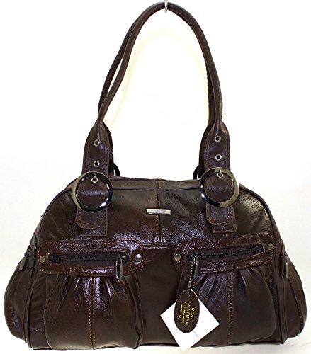 Large Leather Handbag from Straps Lorenz with Brown Twin Shoulder zdwxTdqp4