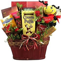HappBee Valentine's Day! Fun Valentine's Day Gift Basket with Plush Bee