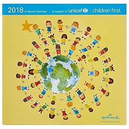 hallmark unicef 2018 wall calendar 12 month