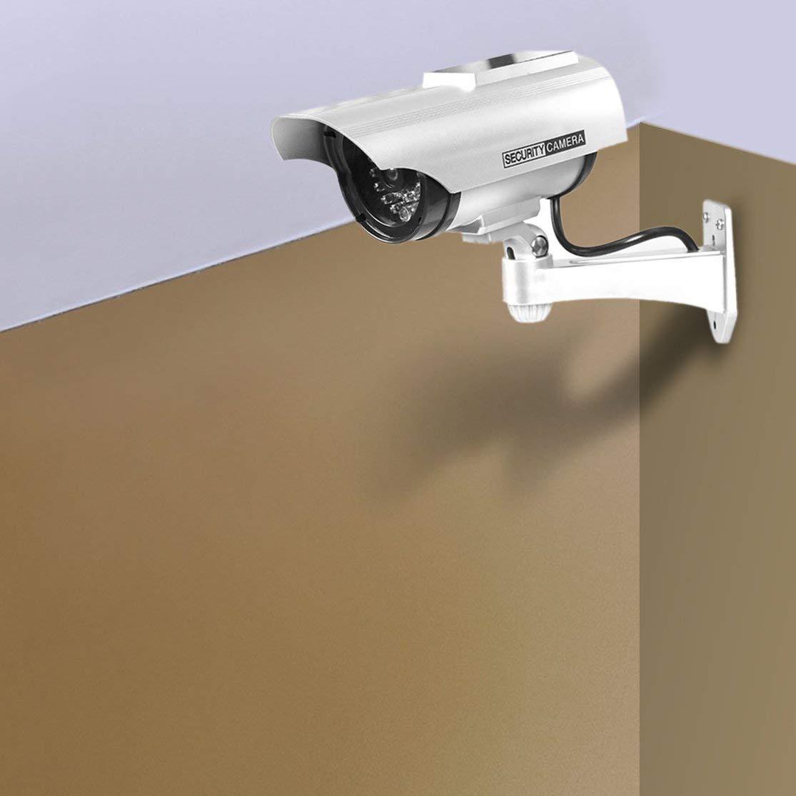 Candybarbar YZ-3302 CCTV simulado con energ/ía Solar Vigilancia de Seguridad C/ámara Falsa a Prueba de Agua Luz LED roja C/ámara antirrobo de Video con luz roja