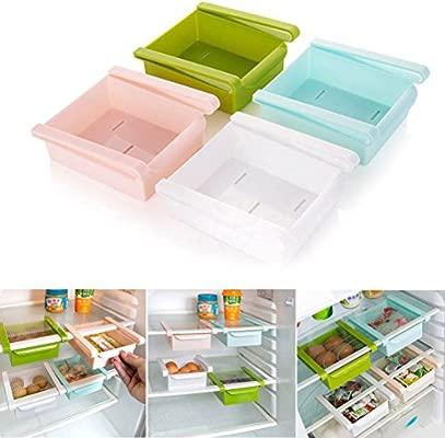 Plástico Cocina Nevera Nevera Rack de almacenamiento Congelador ...