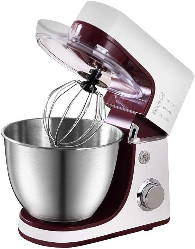 GJJSZ Batidor de Huevo de sobremesa,batidora pequeña para máquina de Cocina casera,Velocidad Ajustable de 6 ...