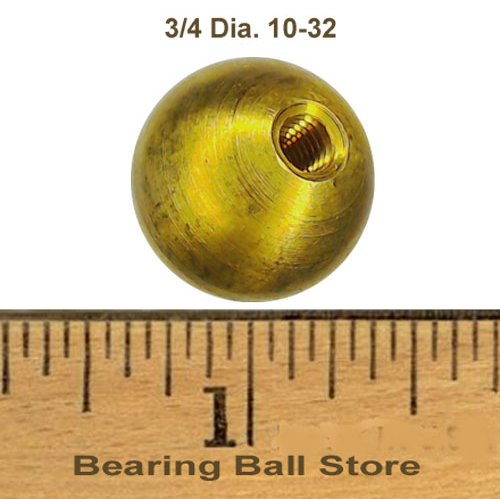 66 3/4'' threaded 10-32 brass balls drilled tapped lamp finials by Bearing Ball Store
