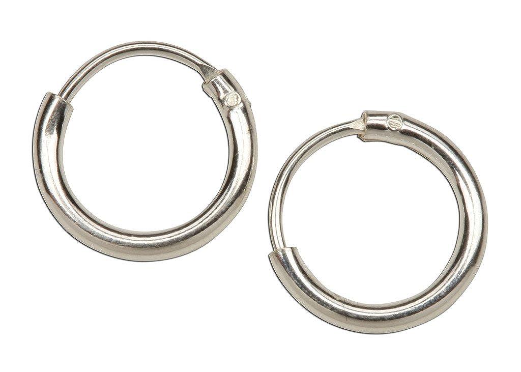 Sterling Silver Tiny Hoop Earrings 8mm diameter