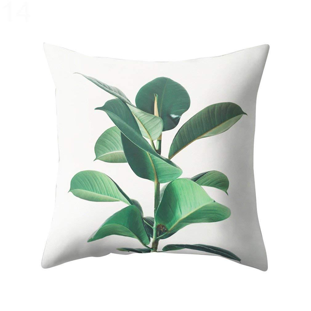 Medium dragonaur suculentas plantas patr/ón funda de almohada Funda de coj/ín decoraci/ón para el hogar 1#