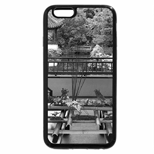 iPhone 6S Case, iPhone 6 Case (Black & White) - Ikebana and view on a garden