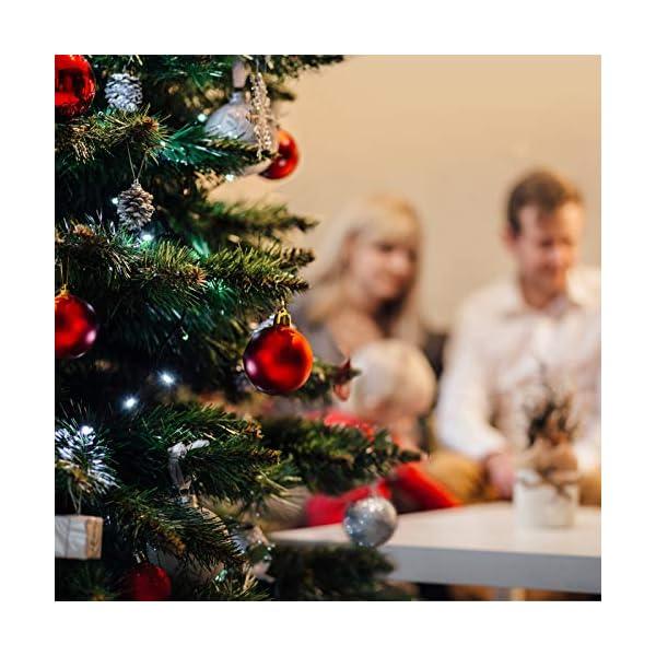 Yisscen Palle di Natale Decorazioni per Alberi, Palle per Alberi di Natale, Palle Decorative Natalizie, Palline Decorative Luccicanti opache e Lucide, per Decorazioni Feste, 24 Pezzi (Rosa Rossa) 5 spesavip