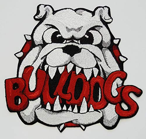 Bulldog (White) Sports Mascot Embroidered Patch 6