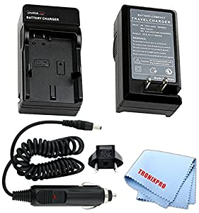 Battery Charger for Kodak KLIC-5000 Camera Battery for models: Kodak EasyShare DX6490, DX7440, DX7590, DX7630, LS420, LS433, LS443, LS633, LS743, LS753, Easy Share One, Z730, Z760, Z7590 &More, for Car & Home, European Adapter + Microfiber Cloth | KLIC500