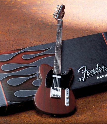 Axe Heaven Fender Telecaster Rosewood Finish Miniature Guitar Replica