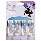 Dreambaby Stroller Blanket Clips (Silver Glitter)