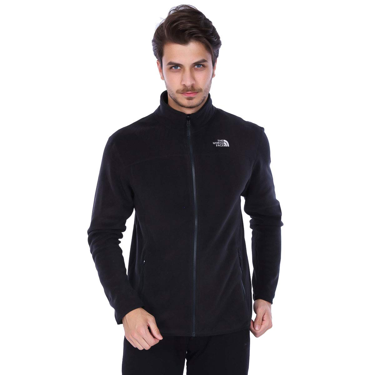 TALLA L. The North Face M 100 Glacier Full Zip Chaqueta, Hombre