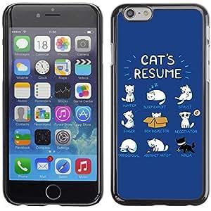 """A-type Arte & diseño plástico duro Fundas Cover Cubre Hard Case Cover para 5.5"""" iPhone 6 Plus ( Gato divertido Ilustración Reanudar )"""
