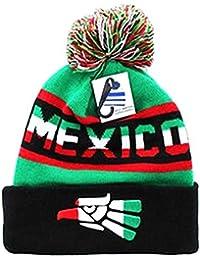 Mexico Beanie Pom Pom Ski Winter Cap Hat Cuff Urban wear Mexican Eagle Soccer MX