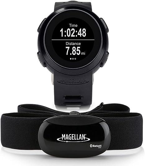 Magellan Echo Fitness Reloj Deportivo wMonitor de frecuencia cardíaca para iPhone 66 Plus, 5, 5S, 5 C y teléfonos Inteligentes Android COMPATIBLES