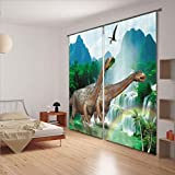 3D Curtains Cartoon Children'S Room Theme, Wall Bedroom Curtain Multi-size ( Size : 3.2x2.7M )