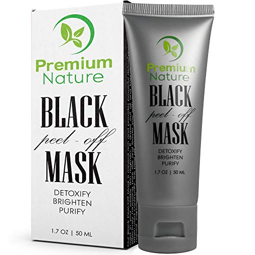 Blackhead Remover Peel Off Mask - Black Charcoal Face Mask Deep Detox Cleanser for Blackheads Pore Minimizer Facial Black Head Masks, Reduce Pores Pimple & Acne Absorbs Dirt & Oil Brighten & Purify
