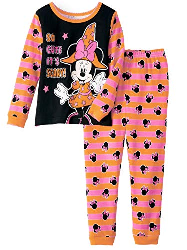Disney Minnie Mouse Little Girls Toddler Halloween Pajama Set (3T) -