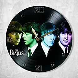 The Beatles Vinyl Clock Painted - Unique Wall Clock The Beatles Music Band - Best Gifts for Music Lover - Original Wall Home Decor