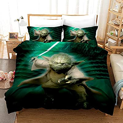 Cnspin 3D Printed Duvet Cover and Pillowcase Polyester Fiber is Comfortable and Soft Bedding Adult Student Suit Star Wars